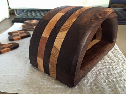Band Saw Box of Walnut Scraps